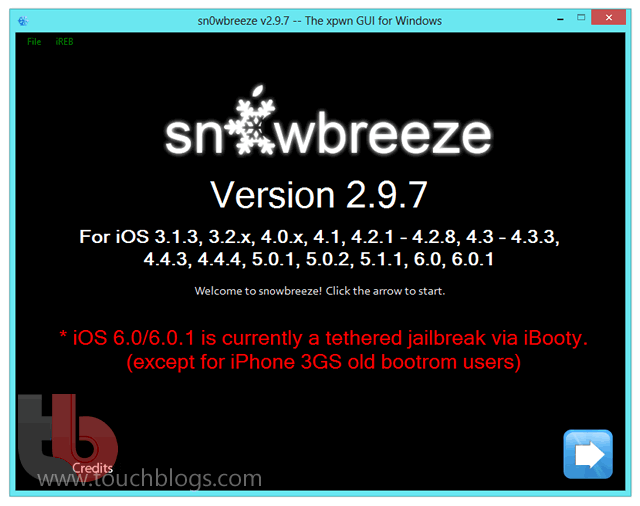 jailbreak tethered ios 6 0 1 no ipad iphone ou ipod touch com