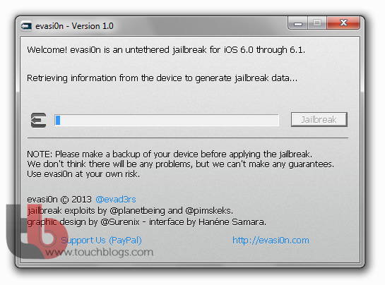 Jailbreak Evasi0n iOS 6.1